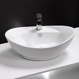 Faro Oval Counter Top Basin 1TH - 590 x 395mm