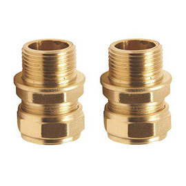 "Pair of 3/8"" Inch Flexi Tail Pipe Adapters"