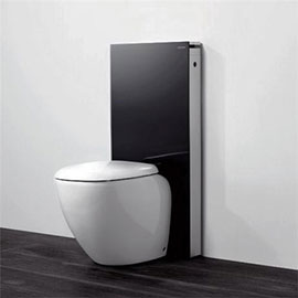 Geberit - Monolith WC Unit & Cistern for Floorstanding WC's - Black/Aluminium