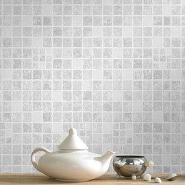 Graham & Brown - Earthen Grey Bathroom Wallpaper - 18092