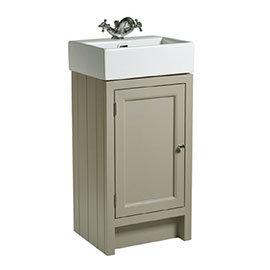 Roper Rhodes Hampton Cloakroom Unit & Basin - Mocha