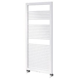 Asquiths Mineral White H1200 x W500mm Round Tube Vertical Radiator - HEA0101