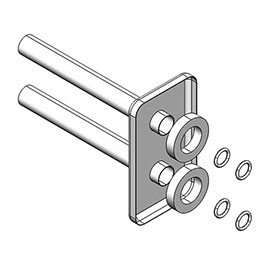 Asquiths Chrome Pipe Covering Kit for Central Valves - HED5130