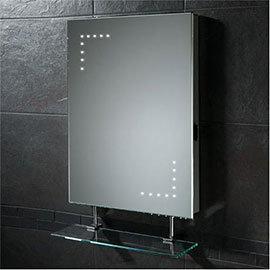 HIB - Celeste LED Mirror with Shaving Socket - 73105400