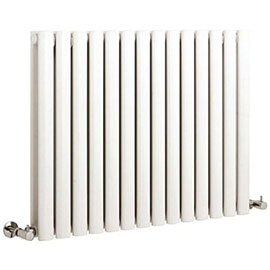 Hudson Reed Revive Small Double Panel Designer Radiator - White - HL328