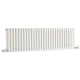 Hudson Reed Refresh Double Panel Horizontal Designer Radiator - White - HLW22