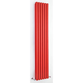Hudson Reed - Revive Double Panel Designer Radiator 1800 x 354mm - Red - HRE003