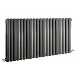 Nuie - Salvia Double Panel Radiator - 635 x 1223mm - Anthracite - HSA007