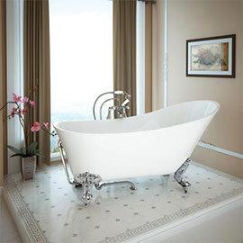 Harlow 1610 Slipper Bath with Chrome Leg Set Medium Image