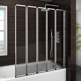 Haro Folding Bath Screen (1200mm Wide - 5 Fold Concertina)
