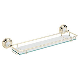 Heritage - Clifton Glass Gallery Shelf - Vintage Gold - ACA08