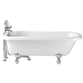 Heritage Perth Single Ended Roll Top Bath with Feet (1670x720mm)