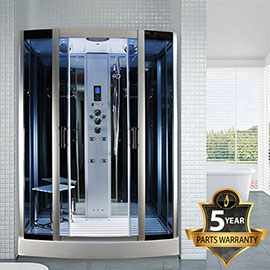 Insignia Steam Shower Cabin with Mirrored Backwalls - INS0509