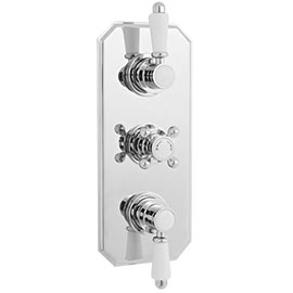 Nuie Edwardian Triple Concealed Thermostatic Shower Valve - ITY317