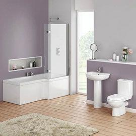 Ivo Modern Shower Bath Suite Medium Image