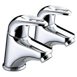 Bristan Java Contemporary Basin Pillar Taps - Chrome - J-1/2-C