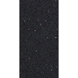 Black Sparkle Quartz Tile - 600 x 300mm
