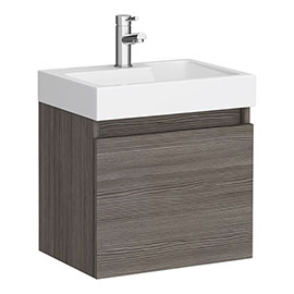 Juno 500 x 360mm Grey Avola Wall Hung Vanity Unit