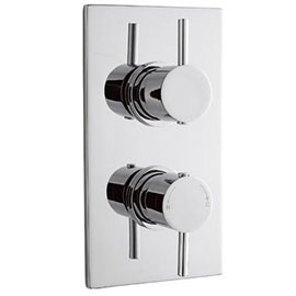 Pioneer - Minimalist Lever Twin Concealed Shower Valve with Chrome Plated ABS Trimset