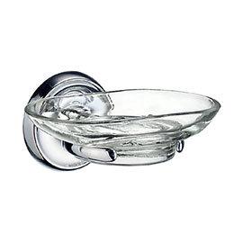 Smedbo Villa Glass Soap Dish & Holder - Polished Chrome - K242