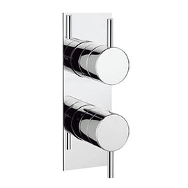Crosswater - Kai Lever Concealed Thermostatic Shower Valve with Slim Backplate - KL1000RC-VS