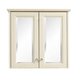 Heritage - Caversham Double Door Mirrored Wall Cabinet with Chrome Handles - Various Colour Options