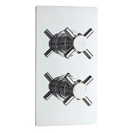 Hudson Reed Kristal Twin Concealed Thermostatic Shower Valve - Chrome - KRI3210