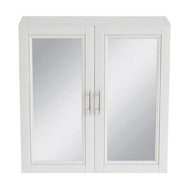 Heritage - Caversham 640mm Mirror Wall Cabinet with Pewter Handles - Various Colour Options