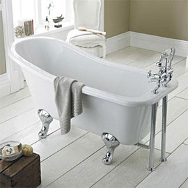 Nuie Kensington 1700 Roll Top Slipper Bath Inc. Chrome Leg Set
