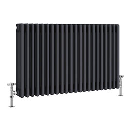 Keswick 600 x 988mm Cast Iron Style Traditional 4 Column Anthracite Radiator