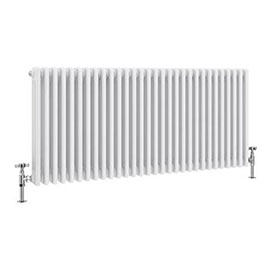 Keswick 600 x 1355mm Cast Iron Style Traditional 3 Column White Radiator