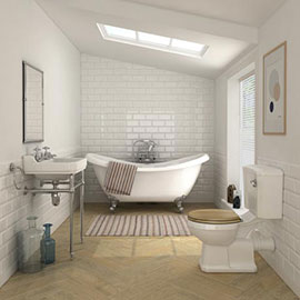 Keswick Traditional Roll Top Bath Suite (1750mm)