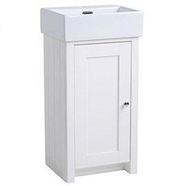 Tavistock Lansdown 400mm Cloakroom Unit with Basin - Linen White