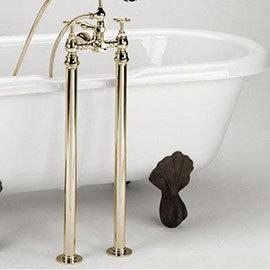 Bristan - Freestanding Bath Pipe Shrouds - Gold - LEG-G