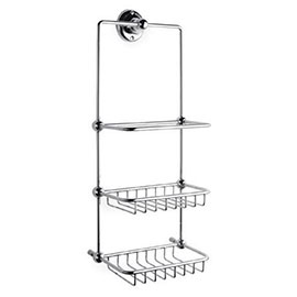 Hudson Reed Traditional Shower Tidy - Chrome - LH316