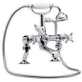 Nuie Luxury Beaumont 3/4 Inch Cranked Bath Shower Mixer - Chrome - I303X