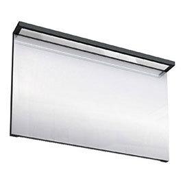 Aqua Cabinets - 1200mm Wide Illuminated LED Mirror - Black - M40B