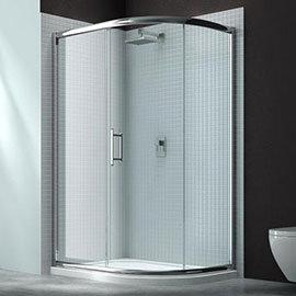Merlyn 6 Series 1000 x 800mm 1 Door Offset Quadrant Shower Enclosure