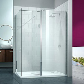 Merlyn 8 Series 1400 x 900mm Walk In Enclosure with Swivel & End Panel