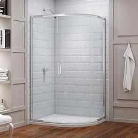 Merlyn 8 Series 1200 x 900mm 1 Door Offset Quadrant Enclosure