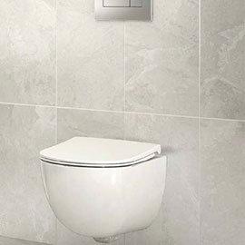 Casca White Matt Wall Tiles - 30 x 60cm