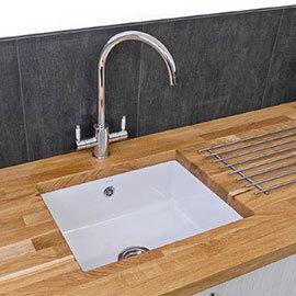 Reginox Mataro 1.0 Bowl White Ceramic Undermount Kitchen Sink