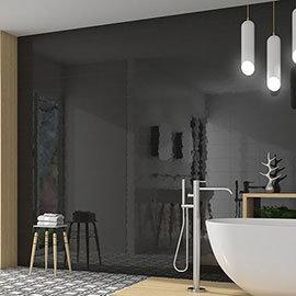Mataro Black Gloss Wall Tiles - 125 x 250mm