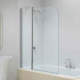 Merlyn Ionic Two Panel Folding Curved Bath Screen (900 x 1500mm)