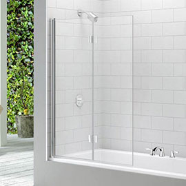 Merlyn Two Panel Folding Bath Screen (1100 x 1500mm)