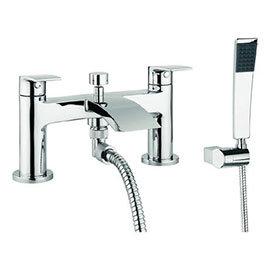 Crosswater - Flow Dual Lever Bath Shower Mixer with Kit - MBFW422D