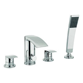 Crosswater - Flow 4 Tap Hole Bath Shower Mixer with Kit - MBFW440D