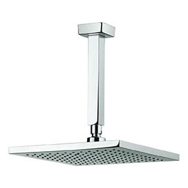 Crosswater - Planet 250mm Square Fixed Head & Ceiling Mounted Arm - MBPSAF25