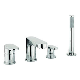 Crosswater - Style 4 Hole Bath Shower Mixer with Kit - MBST440D