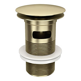 Arezzo Brushed Brass Slotted Click Clack Basin Waste
